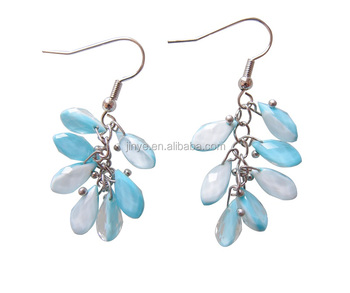 Fashion Bohemian Light Blue Water Drop Earrings
