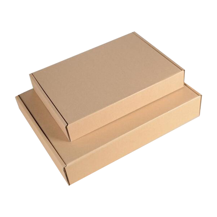 Small Mail Paper Customized Printed Kraft Corrugated paper shipping <strong>box</strong>