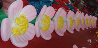 wedding/party inflatable led flower chain giant inflatable flower decoration