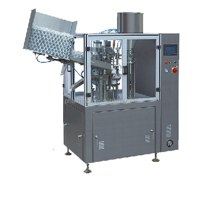 NF-60A fully automatic plastic tube filling sealing machine for hair cream and toothpaste