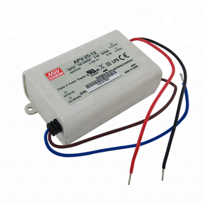 APV-25-12 Mean Well LED Driver 25W 12Volt 0~2.1A Single Output DC 12V 2A Power Supply