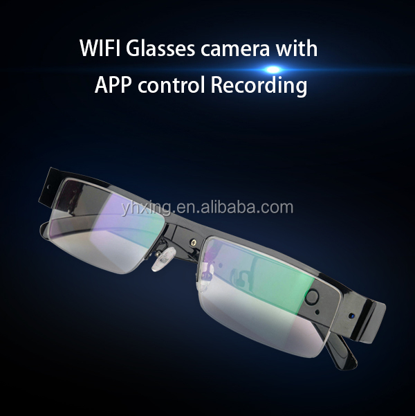2017 H.264 1080p WiFi Live Streaming eye glasses camera,wifi spy glasses camera can view when charge