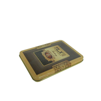 Rectangular business card tin case cigarette metal box gift tin can with hinge