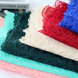 polyester spandex lace fabric organza sequence lace fabric applique lace fabric