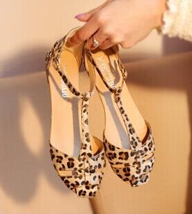 New Design Fashion Flat Leopard Print