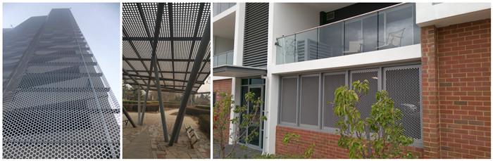 Toptan tedarik paslanmaz çelik galvanizli dekorasyon yuvarlak delik delme net