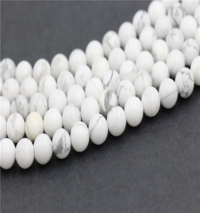 New Bead Polished White Howlite Stone Bead Round Stone 4mm 6 mm 8 mm 10mm