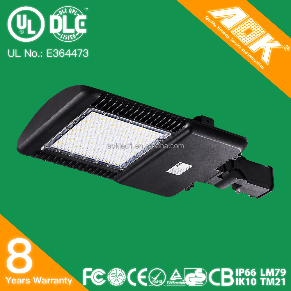 Professional Factory Wholesale parking lot shoe box led dlc area luminaire from manufacturer