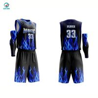 Sublimated Printing Custom Design Promotional Men's Basketball Wear