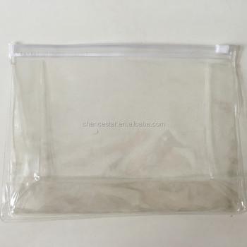 Custom Printed Clear Plastic Zipper Slide Bag With Handle