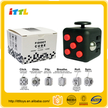 Most popular stress relief toys magical cube fidget cube toys newest vinyl desk toy