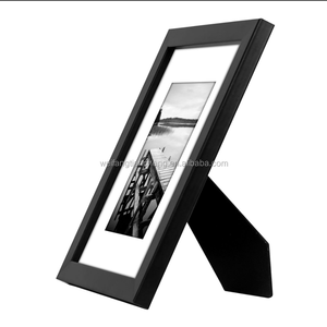 Elegant black wood poster frame / large wood poster picture frame cheap wholesale