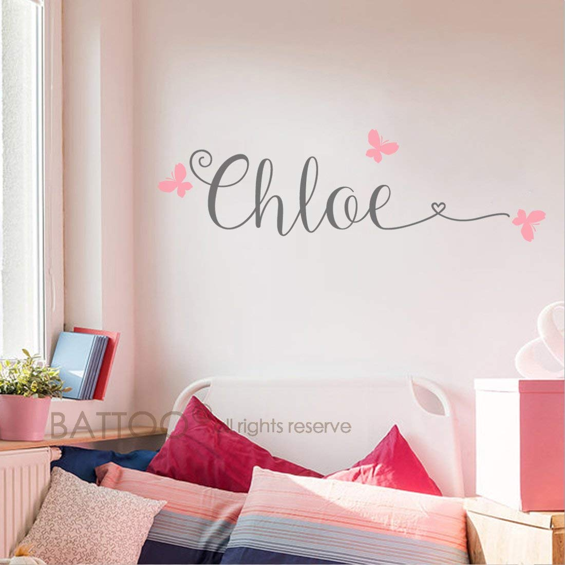 Battoo Personalized Name Wall Decals