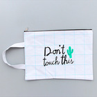 Different new design cotton zipper money bag with wallet handle