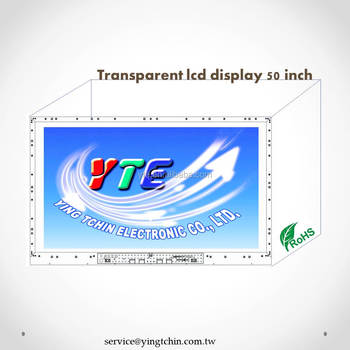 High Performance 50 inch transparent lcd screen display for outdoor Advertising Exhibition