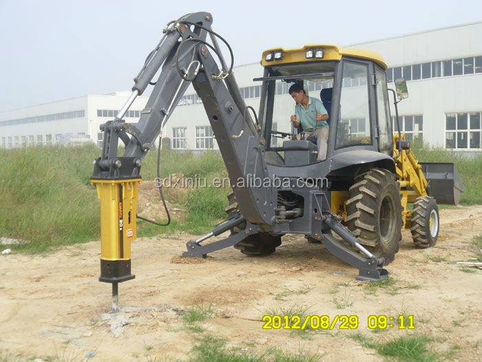 Backhoe loader accessories, backhoe with hammer,backhoe loader hydraulic hammer