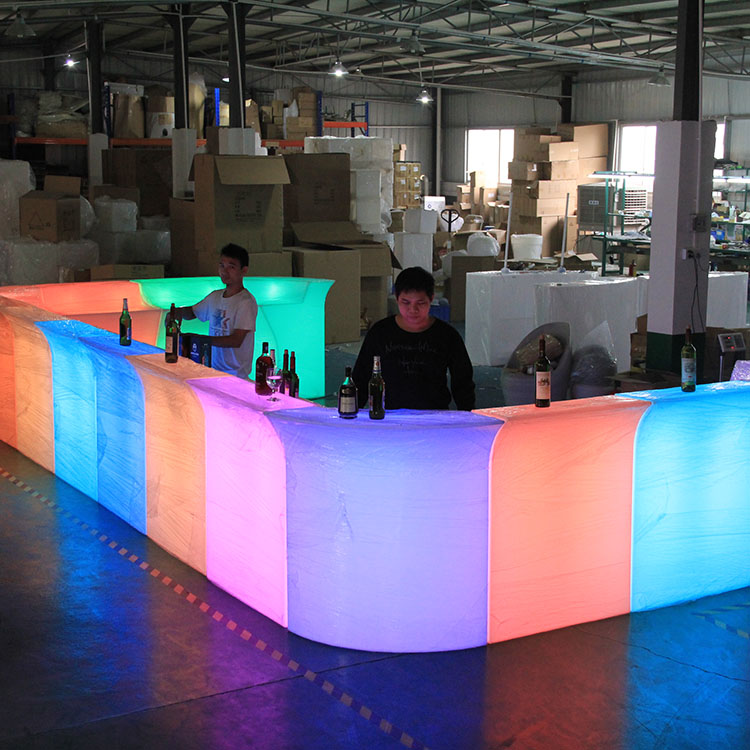 Led illuminated <strong>bar</strong> counter commercial portable modern Plastic