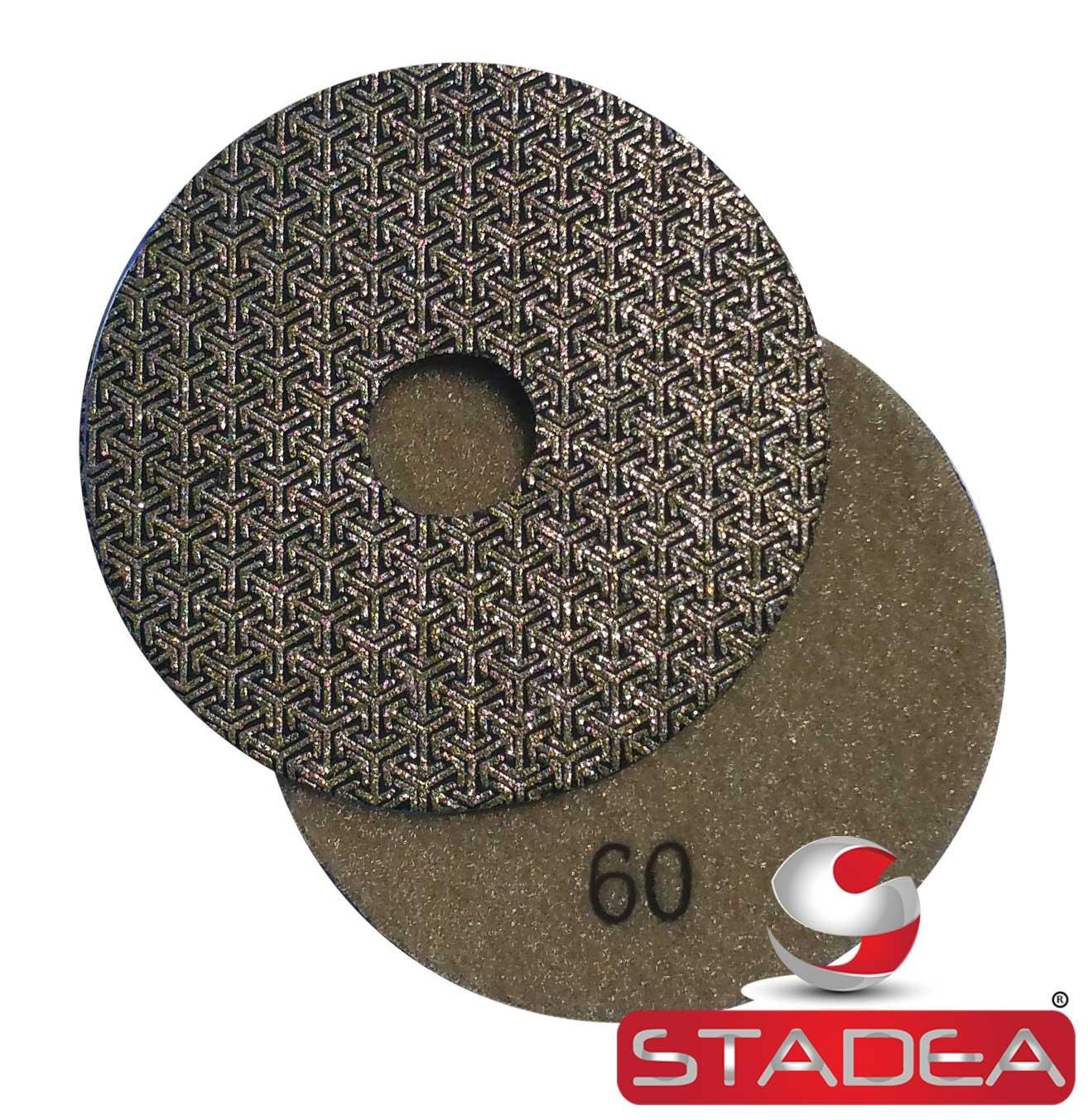 "Stadea PPE113A Electroplated Diamond Polishing Pads 4"" Diamond Wet Dry Sandpaper for Glass Concrete Marble Granite Polishing Sanding"