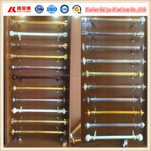 Curtain pole powder coating black white brown gold roman aluminum curtain rod
