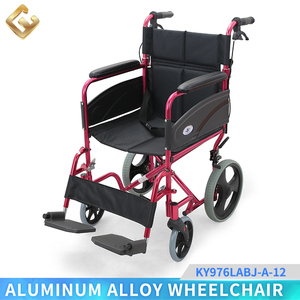 Aluminum united brakes 12 inch mag wheel folding wheelchair from factory direct sale