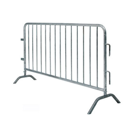 Hot dip galvanized usd iron metal temporary crowd control barriers