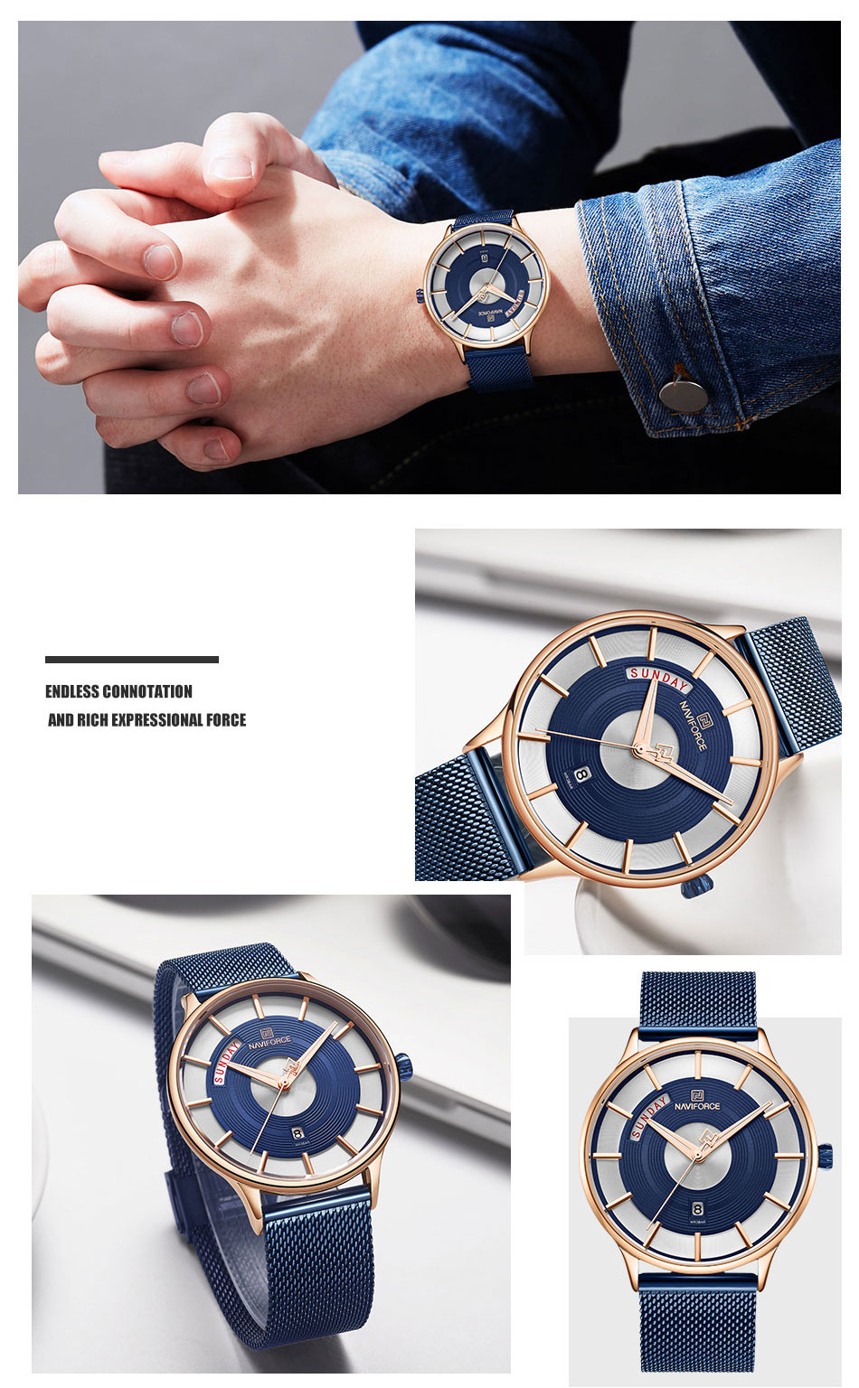 2019 new arrival mens watches luxury most popular products relojes hombre wristwatch hot selling naviforce watch