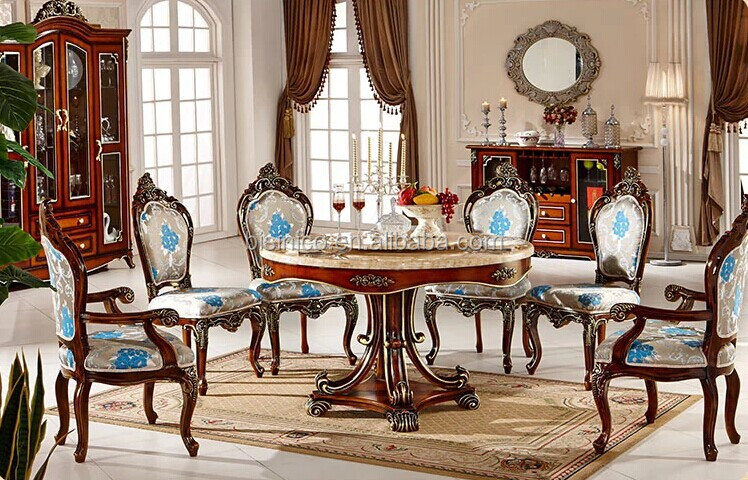 european dining room furniture | European Style Luxury Dining Set,Round Dining Table And ...