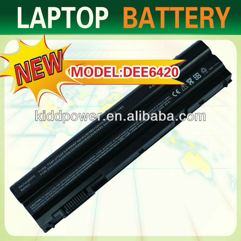 6 cells 11.1 V 4400 mAh Li-ion Notebook Battery for Dell Latitude E6420