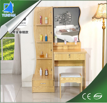 Living Room Furniture Mdf Dressing Table With Mirror And Stool