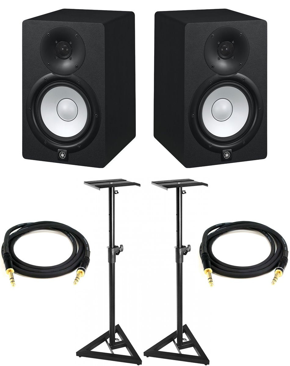 Cheap 5 Studio Monitors Find Deals On Line At Yamaha Hs5 Powered Monitor Hs7 Pair Bundle With Two Stands Trs Cables