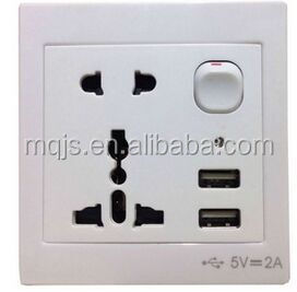 Many Design Wall USB Socket/Double USB soket/multi socket with usb socket with switch