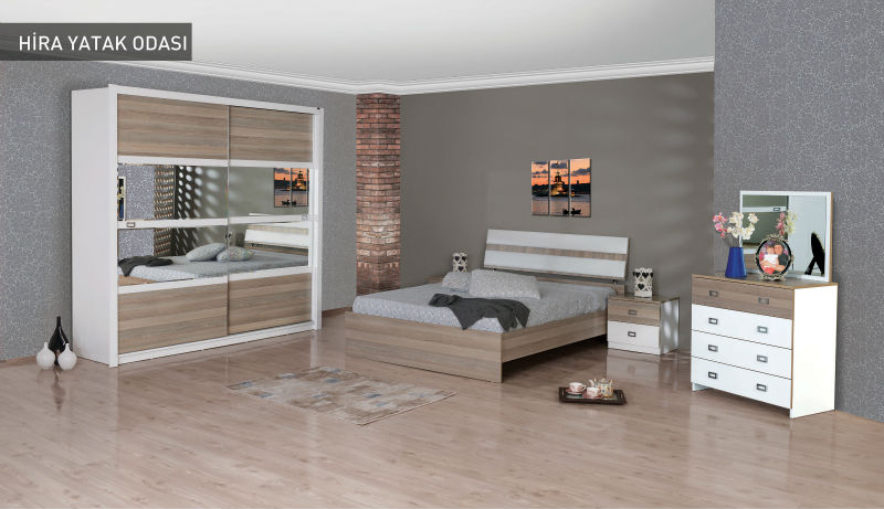 Modern Bedroom Furniture Set - Hira - Product Code: 3400