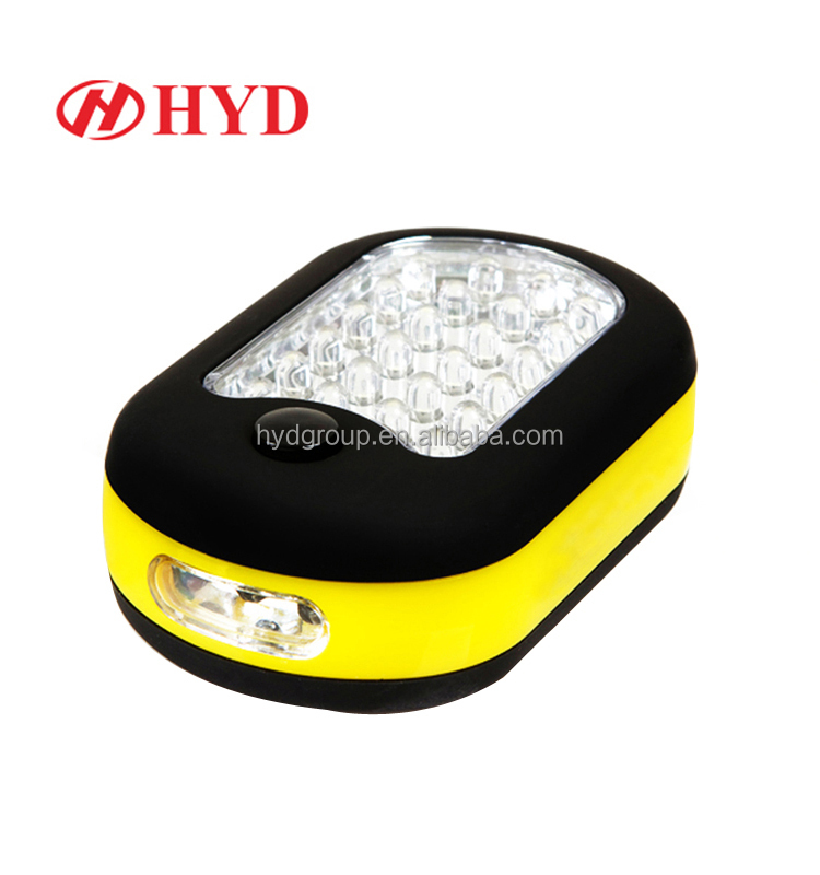 HYD80002 Cheap soap work lamp light day battery light 24LED+3LED working light for vehicle repairing camping using