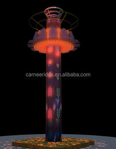 Fun Exciting Adults entertainment machine12seats electric drop tower rides for sale