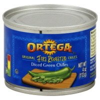 Ortega, Canned Green Chiles, Diced Fire Roasted Green, 4oz Can (Pack of 4) (Select Flavor & Size Below) (Diced Fire Roasted Chiles 4oz Can)
