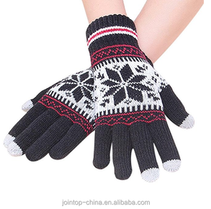 3fe4aab796b4e Factory Custom Keep Warm Acrylic Screen Touch Safety Winter Knit Glove