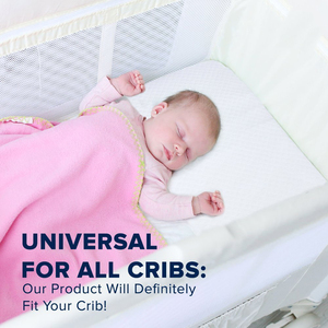 100% Premium Cotton and High Density Memory Foam Baby Wedge Pillow Alleviate Acid Reflux Baby Better Night's Sleep