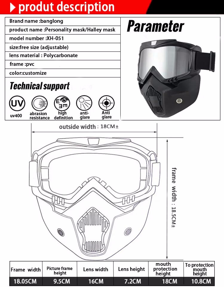 50200eca3dd0 Newest China high quality TPU material mx motocross glasses Mask Mirror  lens motorcycle googles anti fog