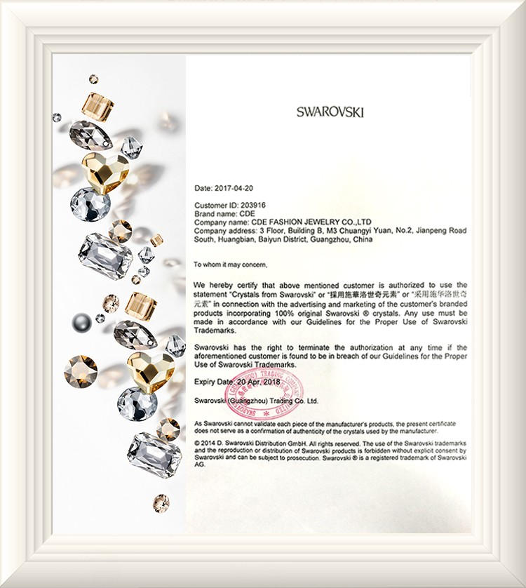 Cde China Crystals From Swarovski Jewelry Gold Plated Fashion
