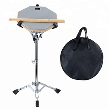 "Praxis Pad Percussion Set Doppel Seiten Buddle mit Stand Sticks Tasche Grau 12 ""Stille <span class=keywords><strong>Snare</strong></span> Drum"