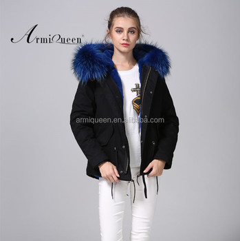 Ladies Black Shell Winter Faux Fur Lined,Short Parka Warm Black ...
