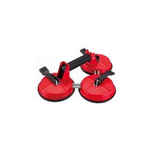 red triangle 3 caps glass suction vacuum handling equipment lever operated triple rubber sucker cups hand hold glass lifters