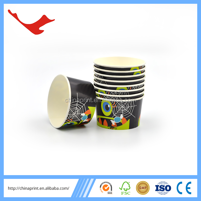 007 wholesale disposable custom printed ice cream paper cup