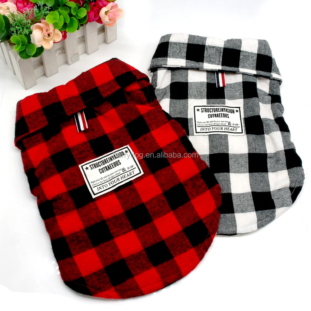 New Stylish Winter Warm Grid Pet Dog Clothes