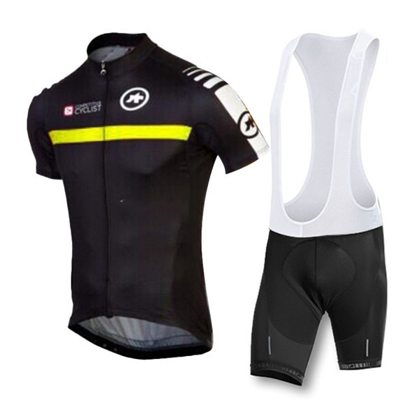 2015 maillot ciclismo black with yellow cycling jersey bicycle bike summer style team Breathable Quick Dry bicicleta mtb top