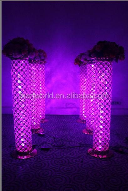 2018 new silver led pillar crystal wedding column lighted wedding 2018 new silver led pillar crystal wedding column lighted wedding column walkway stand wedding decoration junglespirit Gallery
