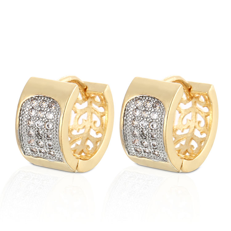 China Factory New 2018 Latest 18k Gold Earring Designs For Women, 18k gold;rose gold;champaign gold