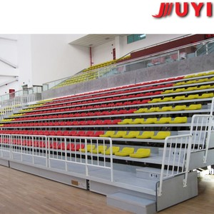 JY-706 Moveable indoor plastic chair bleacher used bleachers for sale