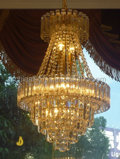 Moderna l mpara colgante de cristal grande ara a de hotel - Lampara de arana moderna ...