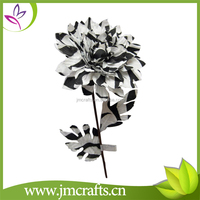 Decorative black and white pattern artificial mum flower